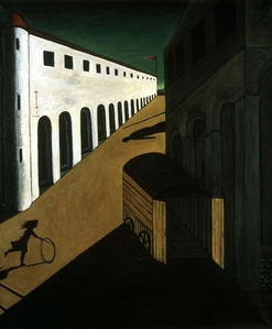 Not de Chirico (Girl with a hoop; Mystery and melancholy of a street, 1914)