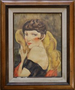 Portrait of Kiki de Montparnasse attributed to Charles Camoin (1879-1965)