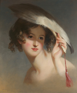 Girl with a Fan (Blanche Sully)