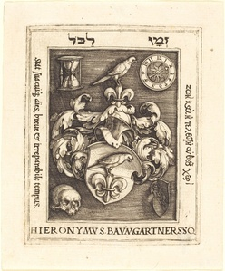 Bookplate of Hieronymus Baumgartner