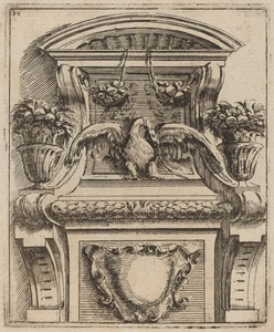 Architectural Motif with a Bird
