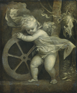 Cupid with the Wheel of Fortune