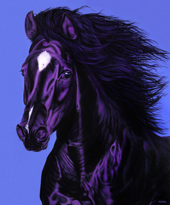 Horse's Head in Dark Purple