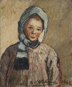 Marie-Anne à l'écharpe bleu