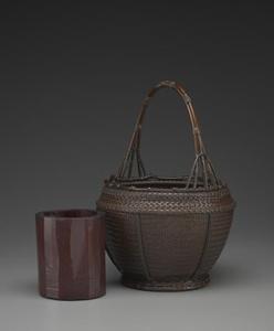 Wide-Mouthed Basket; (Sashiko Hirokuchi Hana Kago)