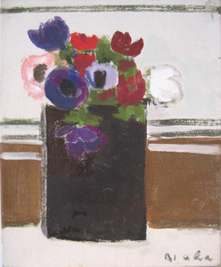 Untitled (Flower Bouquet in Black Vase)