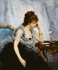 A Young Lady Writing a Letter