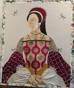 Queen Mary Velvet Ikkat
