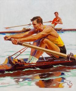 Oarsmen Racing, Saturday Evening Post Cover