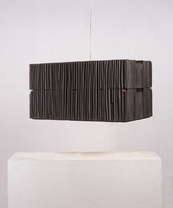 Two-floor lamp black from the series 'Lampenfieber'