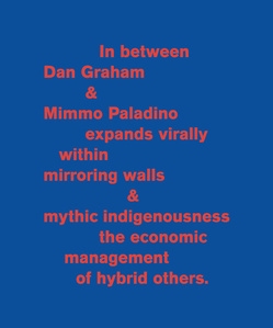 In between Dan Graham & Mimmo Paladino....