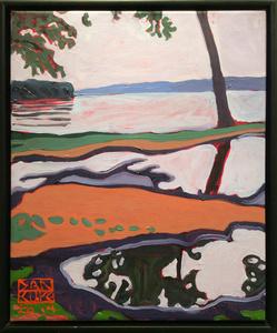 Rain Puddles, Hudson River