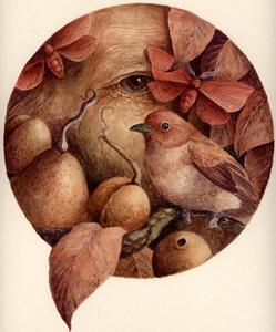 Self Portrait with Bird