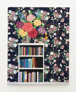 Flowers on Bookshelf