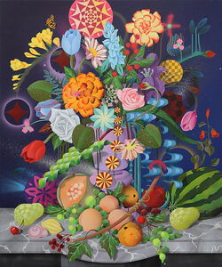 Still Life with Fruits & Flowers