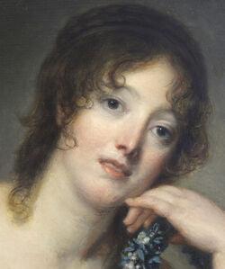 Portrait of Jeanne Philiberte Ledoux (1767–1840), half-length