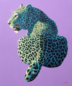 Leopard on Light Purple