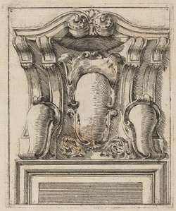 Architectural Motif with Three Shields