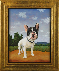 Landscape with French Bull Dog