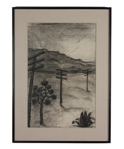 Untitled (Mountain Scene with Poles)