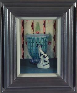 China Dog with Rye Vase