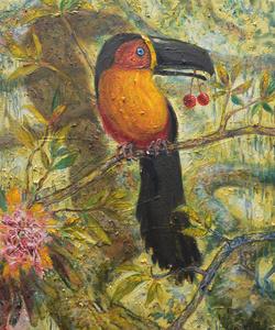 Il pappagallo con le ciliegie