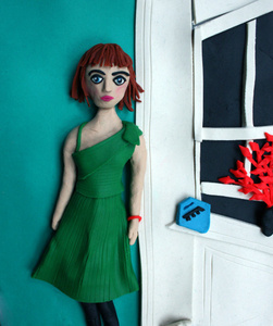Vivienne in the green dress, NYC, 1980 by Nan Goldin