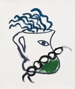 jarra cadena y verde
