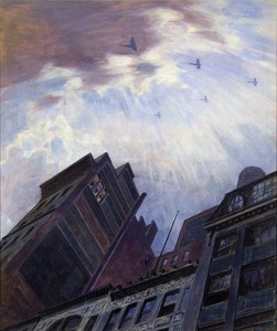 Biplanes over New York City. (Victory Flight WWI.)