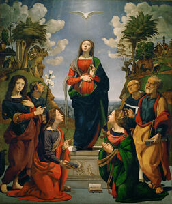 Immaculate Conception with Six Saints