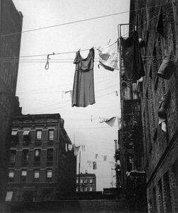 Untitled, New York (Clothesline w/ Dress)