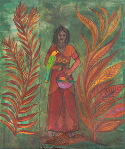 The Woman with the Parrot