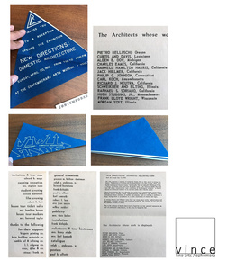 """""""New Directions: Domestic Architecture"""" , 1952, Group Show, Mailer/ Party Invitation, Contemporary Arts Museum Houston"""