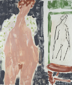 Nude with Spotted Robe