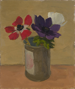 Three Anemones in Tin can