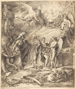 Allegorie sur la mariage du Comte de Provence