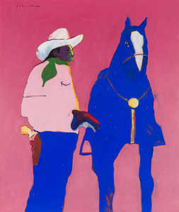 Indian Cowboy and Horse