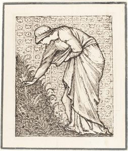 Lady Picking Flowers