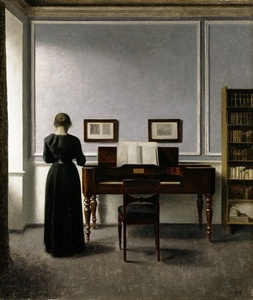 Interior. With Piano and Woman in Black. Strandgade 30.