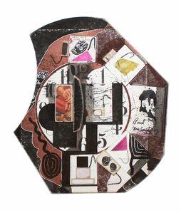 Untitled (David Bourdon Profile with Clock and Moticos Tesserae, Feb 10. 1979, Feb 11. 1979