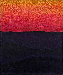 Force of Instinct (Painted Universe Mandala SF #1G, Sunset Sky, Black-Purple Mountains, Natural Ground)