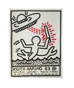 """Keith Haring-83"", 1983, Exhibition Poster, Galerie Watari Tokyo"