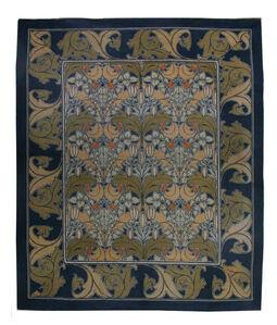 Vintage Arts and Crafts Voysey Rug, BB2514