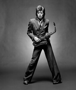 Bowie, Sax BW Full Length, London