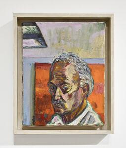 Self Portrait Orange Painting