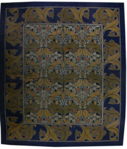 Vintage Arts and Crafts Voysey Rug, BB2515