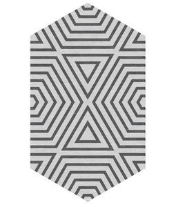 Lozenge - Reverse Zebra Ice Grey