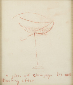 A glass of champagn [sic] the morning after