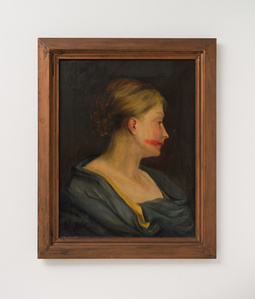 Woman portrait with lipstick
