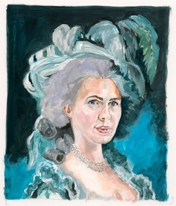 After Vigee Le Brun: Russian Businesswoman as Marie Antoinette